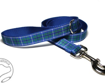 "Plaid Dog Leash - Custom Leash - Matching Leashes - Tartan Ribbon Leashes - Celtic Knot - 1"" Wide - 25mm wide"