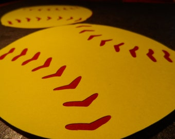 Buy 2 sets get 1 set free  Softball ~ (fast pitch ) baseball locker decorations party decor' die cut embellishments