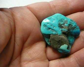 Turquoise Free Form Nugget Cabochon for Wire Wrap  #5