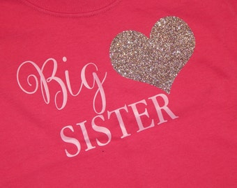 Big Sister Shirt Big Brother Shirt Vinyl design