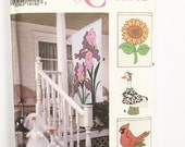 UNCUT Simplicity Crafts 8464 Concrete Lawn Geese Clothes and Flags Bride Bunny Cow Graduate Rain Slicker and Hat Cardinal Iris Sunflower