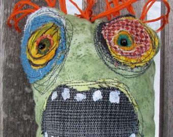 orange haired Freak handmade ooak art doll