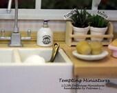 Ceramic Soap Dispenser - 1:12th Dollhouse Miniatures