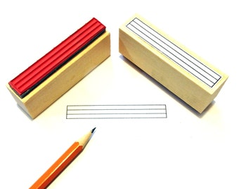 Large Bass / Ukulele Tablature Diagram Rubber Stamp -    A great teacher and student aid. (Uke, Banjo, and Bass)