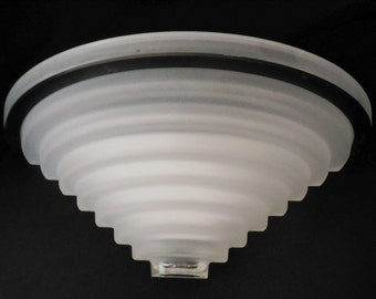Fabbian Frosted Glass Sconce Modern Art Deco Made in Italy