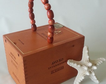 Vintage Cigar Box Handbag or Storage Box