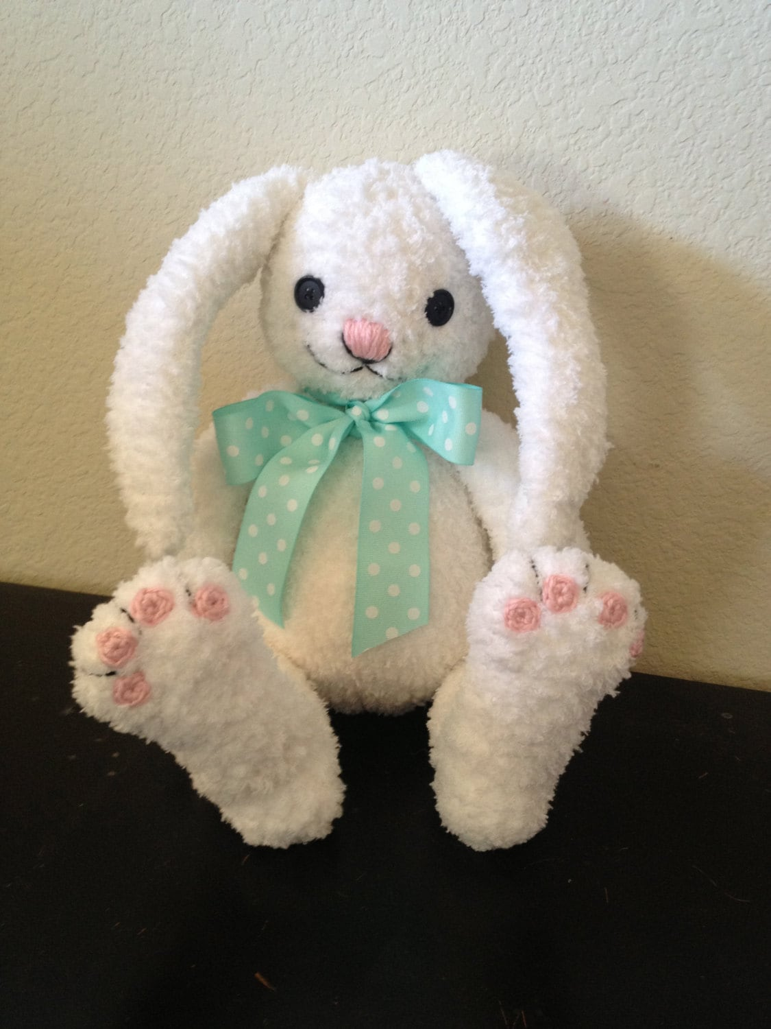 Big Bunny Buddy Crochet doll PATTERN Plush Amigurumi for