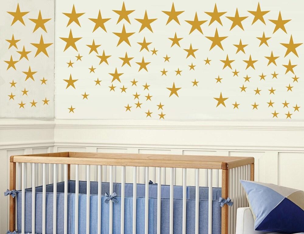 Gold Stars Wall Decals Set Star Decals Gold Confetti Stars
