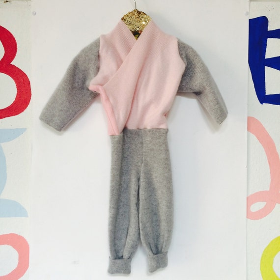 TIPTOE 3-6 Months Kids Cashmere Suit Childrens Onesie Jumpsuit One Piece Jumper Romper Playsuit Upcycled Cashmere Unisex