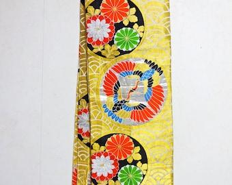 SALE 20% off Heavy Weight Vintage OBI KIMONO Fabric scrap