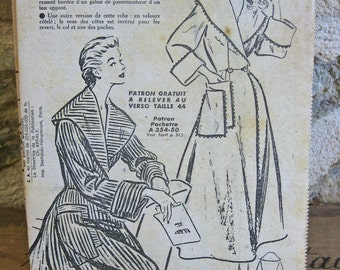 French sewing pattern for a peignoir or dressing gown Madrigal 354