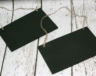 Hanging Chalkboard Signs with Twine, 4.75 inches by 6.75 inches