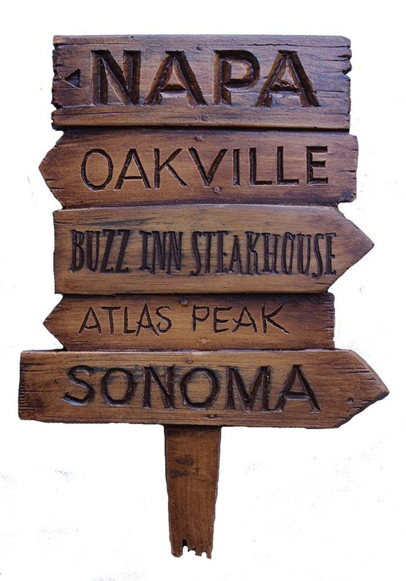 Traffic Signs Wall Decor : Custom wine wall decor napa road sign personalized by alpisano