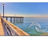 Steeplechase Pier, coney island, brooklyn, nyc, sunlight, pier, ocean, off in the distance, beautiful day, blue, water, perspective, beauty