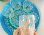 Set of 6 Midcentury Style Leaf Glasses