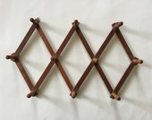 Vintage Wooden Wall Rack, Mug Rack, Wooden Rack