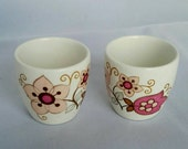 J G Meakin Filigree. Two Egg Cups