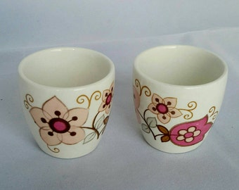 J G Meakin Filigree. Two Egg Cups