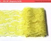 SALE 3 Y of Yellow  Lace Trim Ribbon  2.2 ''