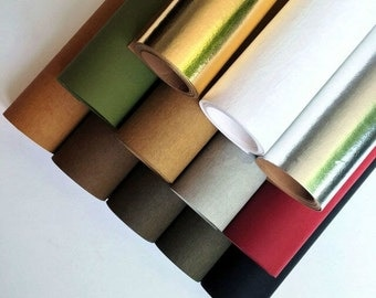 "Half Yard Kraft Paper Fabric,Washable Paper Fabric,Imported From Germany,12 Kinds For Choice, 18"" x 59"" (45 x150cm) Cyber Monday (QT634)"