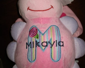 PERSONALIZED --   Monogrammed Stuffed Butterfuly   Pink and Lavender  and more, puppy, beige teddy bear/Soft Plushies