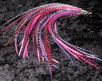 Pink & Purple Feather Earrings