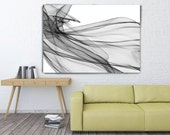 """Movement, Abstract Black and White 20-06-31 Large Abstract Black and White Minimalism Contemporary Canvas Art Print up to 60"""" by Irena Orlov"""