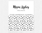 simple business cards - minimal business cards - full color both sides - FREE UPS ground shipping
