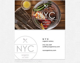 chef / nutritionist DELUXE business cards - thick, glossy or matte - color both sides - FREE UPS ground shipping