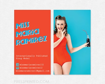 pin up girl business cards - thick - color both sides - FREE design - FREE shipping