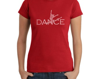 Women's T-shirt - Dancer Created Out of Popular Styles of Dance