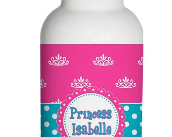 pink princess bow Personalized Aluminum Water Bottle