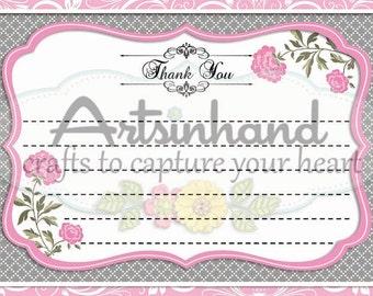 Pink Thank You Flat Card
