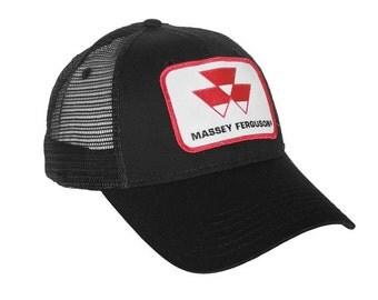 Massey Ferguson Tractor Logo Hat, black with mesh back