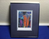 Signed Rico Blass 1960's Abstract Painting Framed Listed German Artist