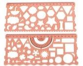 Stencil for Filofax,planner stencil , hobonichi stencil,Template for planner, Midori,Filofax, scheduler diary and for designers  .  no.3