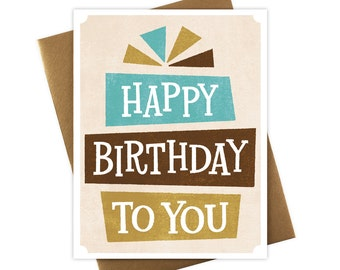 Happy Birthday To You Serif Card