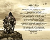 """Reserved for Ashley  A SOLDIER""""S WIFE Gift and Keepsake"""