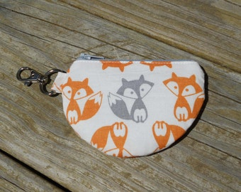 Mini Pouch, Earbud Pouch, Change Pouch, Gray Fox, One of a Kind