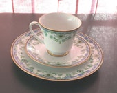 "Noritake Japan 2403 Persia 3 pc: 8"" plate, tea cup and saucer"