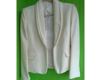 Elegant Vintage Martin Margiela Snow White Tux Jacket Belgium 1990s New Dead Stock
