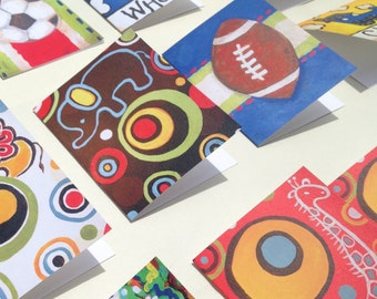 Assorted Card Set (set of 16) with fun child friendly designs