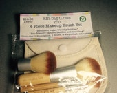 5 Piece Mineral Makeup Brush Set- Eco friendly, Vegan friendly bristles