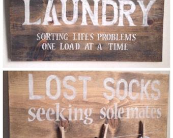 Laundry Room Decor - Seeking Sole Mates and LAUNDRY