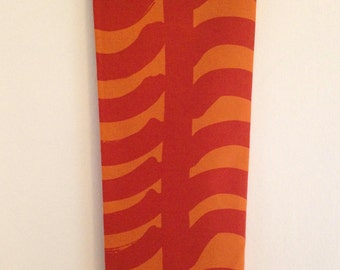 "Marimekko Fabric Designed by Maija Isola ""Rautasänky"" in Orange for Autumn Harvest, Thanksgiving Halloween Projects & Decor"