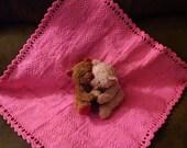 Baby Blanket - Pin Loom Pattern - Pin Loom Weaving with Crochet Edge