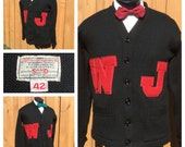 VINTAGE 1950s LETTERMAN  SWEATER - Collegiate Sweater/Cardigan