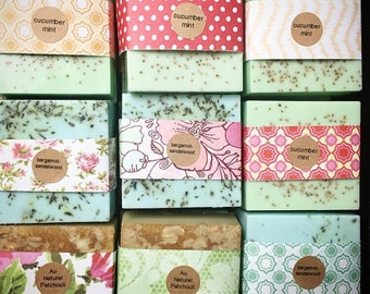 15 Wedding Favors Full Bars Handmade Soap-Soaps-Bridal Shower - Party Favors - Rustic Wedding - Custom Wedding Favors in your Wedding color