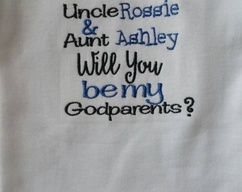 Will you be my godparents shirt/bodysuit   - customizable