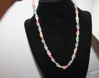 Pastel Genuine Freshwater Pearls Necklace